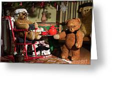 Grandpa And Grandma Teddy Bears' Christmas Eve Greeting Card