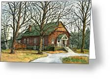 Grange Hall No.44 Greeting Card by Elaine Farmer
