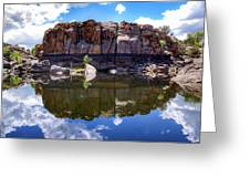 Granite Dells Reflection Greeting Card