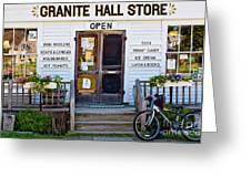 Granite Hall Store  Greeting Card