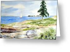 Granite Ledges II Greeting Card