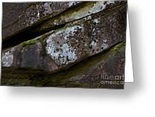Granite Rock Close Up Greeting Card