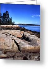Granite Shoreline Deer Isle Maine Greeting Card