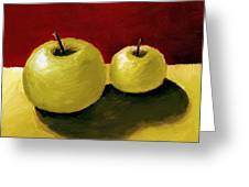 Granny Smith Apples Greeting Card