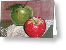 Granny Smith With Pink Lady Greeting Card