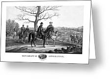 Grant And Lee At Appomattox Greeting Card by War Is Hell Store