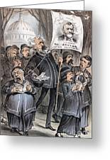 Grant Cartoon, 1880 Greeting Card