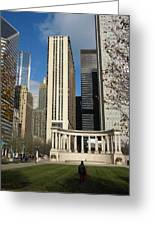 Grant Park Chicago Greeting Card