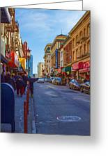 Grant Street In Chinatown Greeting Card