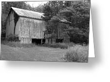 Granville Barn Bw Greeting Card