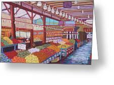 Granville Island Market Bc Greeting Card
