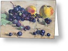 Grape And Peach Greeting Card