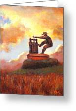 Grape Crusher Sunset Cloud Napa Valley Greeting Card