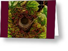 Grape Nest Greeting Card