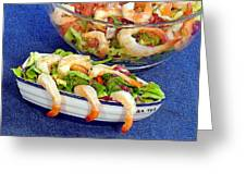 Grapefruit And Shrimp Salad Greeting Card