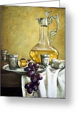 Grapes And Cristals Greeting Card