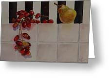 Grapes And Pear Greeting Card