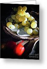 Grapes And Tomatoes Greeting Card