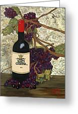 Grapes And Wine Greeting Card