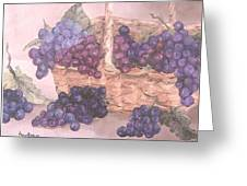 Grapes In Basket Greeting Card