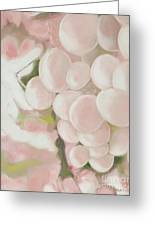 Grapes Powder Pink Greeting Card