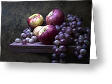 Grapes With Apples Greeting Card