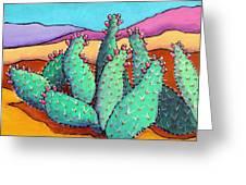 Graphic Cactus Greeting Card