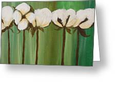 Graphic Cotton In Green Greeting Card