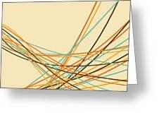 Graphic Line Pattern Greeting Card by Setsiri Silapasuwanchai