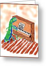 Grasshoppers Don't Play Piano Greeting Card