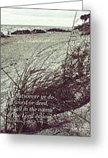 Grassy Dunes Colossians 3 Greeting Card
