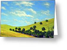 Grassy Hills At Meadow Creek Greeting Card
