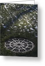 Grassy Manhole Greeting Card