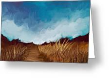 Grassy Path Greeting Card