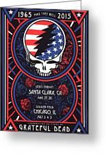Grateful Dead Santa Clara Ca Greeting Card