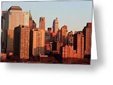 Gratte Ciel Manhattan Usa Greeting Card