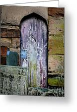 Grave Door Appleby Magna Greeting Card