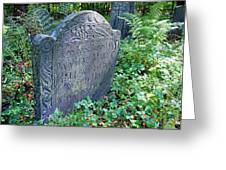 Grave Of Mary Hall Greeting Card by Wayne Marshall Chase