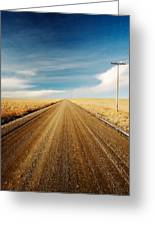 Gravel Lines Greeting Card