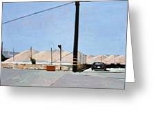 Gravel Piles Downtown La Greeting Card