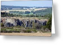 Gravel Pit Canyon Greeting Card