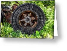 Gravel Pit Goodyear Truck Tire Greeting Card