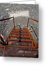 Gravel Pit Grinder Rusty Staircase Greeting Card