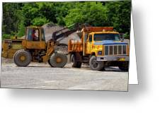 Gravel Pit Loader And Dump Truck 01 Greeting Card