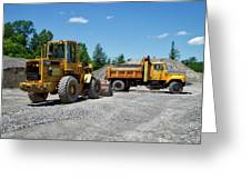 Gravel Pit Loader And Dump Truck 03 Greeting Card