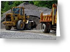 Gravel Pit Loader And Dump Truck 04 Greeting Card
