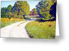 Gravel Road Greeting Card