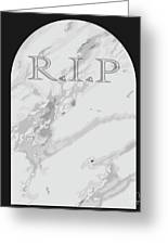 Gravestone Greeting Card