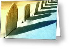 Gravestones In Winter Greeting Card
