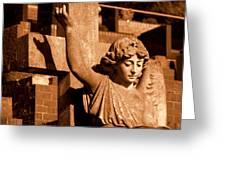Graveyard Angel. Greeting Card